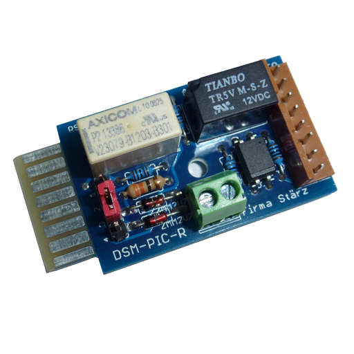 The ROCO-Adapter DSM-PIC-R is an adapter module for connecting turning platforms of the brand ROCO to the Turning Platform Module DSM-PIC. It is a pure accessory module and can only be used together with the Turning Platform Module DSM-PIC